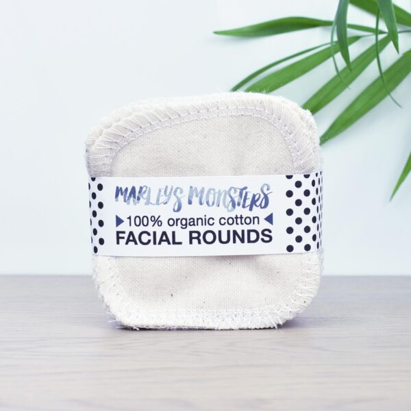 Marleys Monsters Natural Organic Cotton Facial Rounds in Packaging