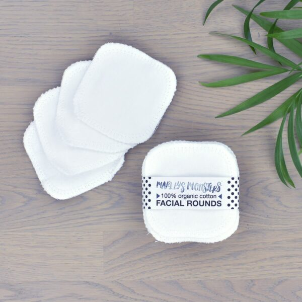 Marleys Monsters White Organic Cotton Facial Rounds