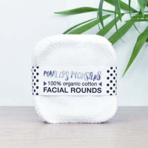 Marleys Monsters Organic Cotton Facial Rounds in Packaging