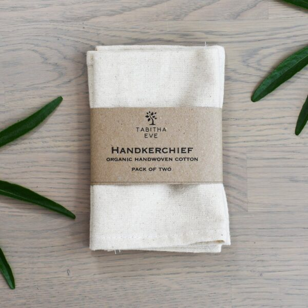 Tabitha Eve Organic Cotton Handkerchief in packaging