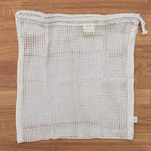 A Slice of Green Large Empty Organic Cotton Net Produce Bag