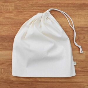 A Slice of Green Medium Sized Organic Cotton Produce Bag With Drawstring Close
