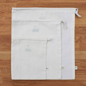 A Slice of Green Set of 3 Organic Cotton Produce Bags