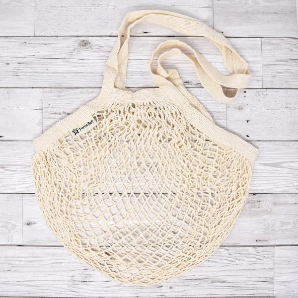 Turtle Bags White Long Handle Organic Cotton String Bag