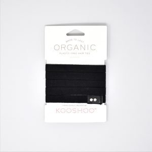 KooShoo Set of 5 Organic Cotton Black Coloured Hair Ties