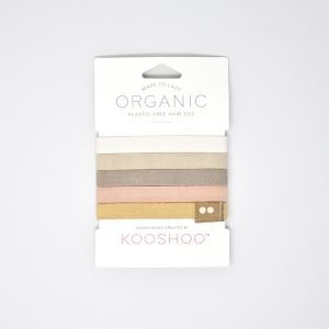 KooShoo Set of 5 Organic Cotton Blonde Coloured Hair Ties