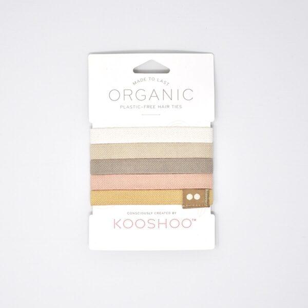 KooShoo Set of 5 Organic Cotton Blonde Coloured Hair Ties