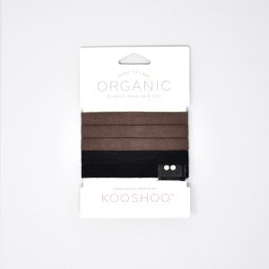 KooShoo Set of 5 Organic Cotton Brown & Black Hair Ties