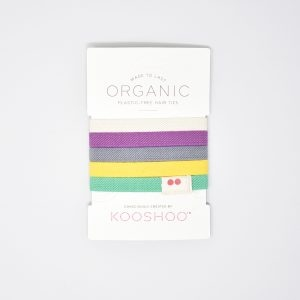 KooShoo Set of 5 Organic Cotton Multi Coloured Hair Ties