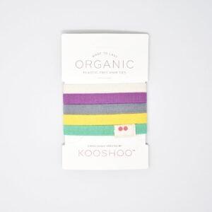 KooShoo Set of 5 Organic Cotton Multi Coloured Hair Ties