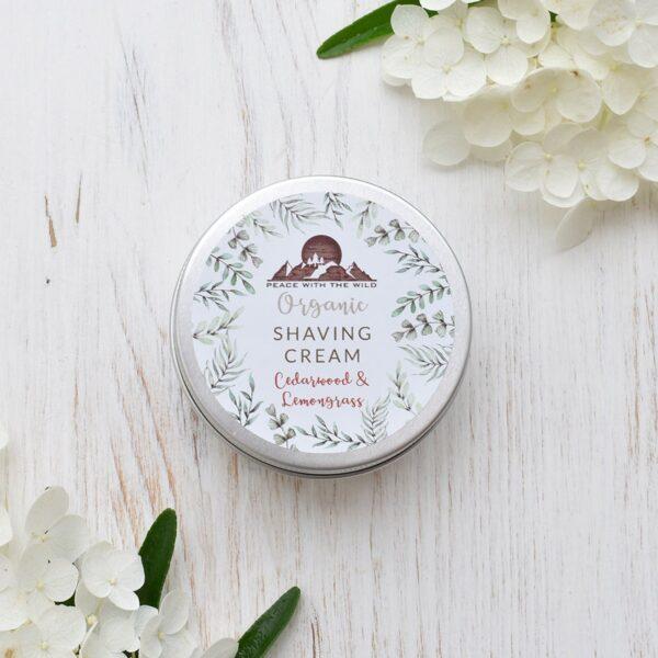 Peace With The Wild Cedarwood & Lemongrass Organic Shaving Cream
