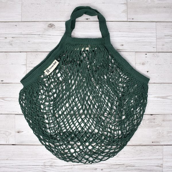 Turtle Bags Green Short Handle Organic Cotton String Bag