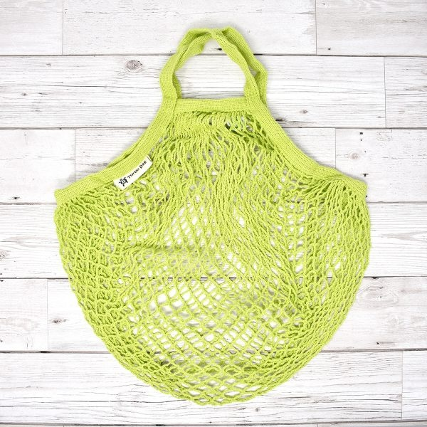 Turtle Bags Lime Short Handle Organic Cotton String Bag