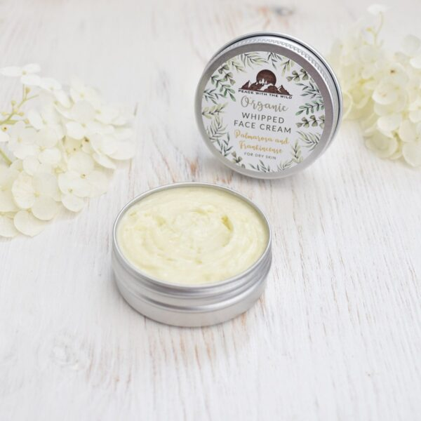 Peace With The Wild Organic Whipped Palmarosa & Frankincense Face Cream for Dry Skin
