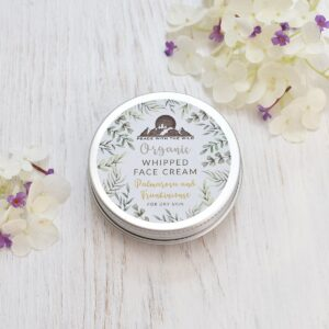 Peace With The Wild Organic Whipped Palmarosa & Frankincense Face Cream for Dry Skin Tin