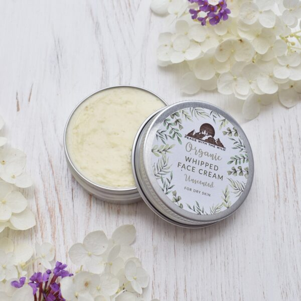 Peace With The Wild Organic Whipped Unscented Face Cream for Dry Skin