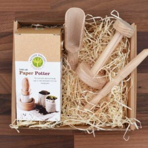 Nether Wallop Trading Co Paper Potter Pat-A-Pot Growing Kit With Biodegradable Plant Pot