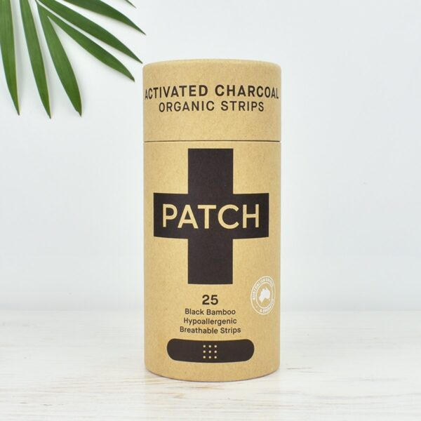 Patch Bites & Splinters Activated Charcoal Bamboo Plasters 25 pack