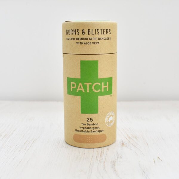 Patch Burns & Blisters Aloe Vera Bamboo Plasters 25 pack