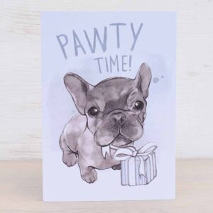 Eco-friendly Greetings Card Pawty Time