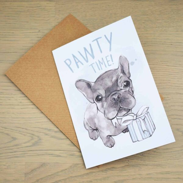 Eco-friendly Greetings Card Pawty Time With Envelope
