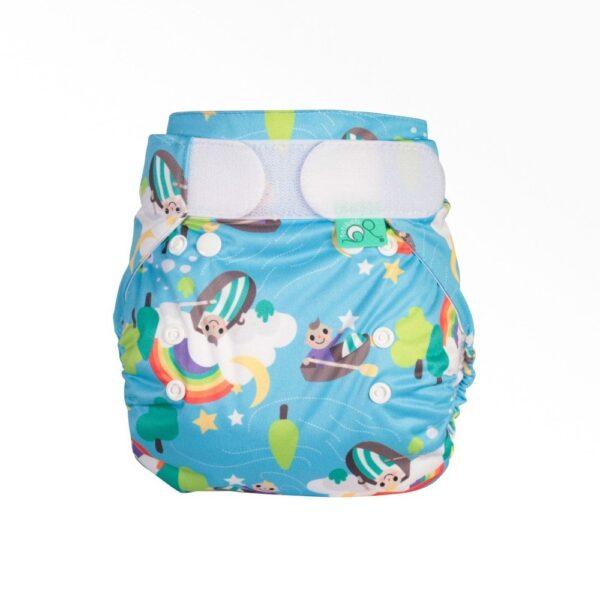 Totsbots PeeNut Cloth Nappy Wrap With Row Your Boat Print