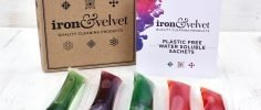 iron and velvet, iron & velvet, Plastic Free Cleaning Sachets, cleaning sachets, household cleaning, water soluble sachets, plastic-free, cleaner, anti bacterial,