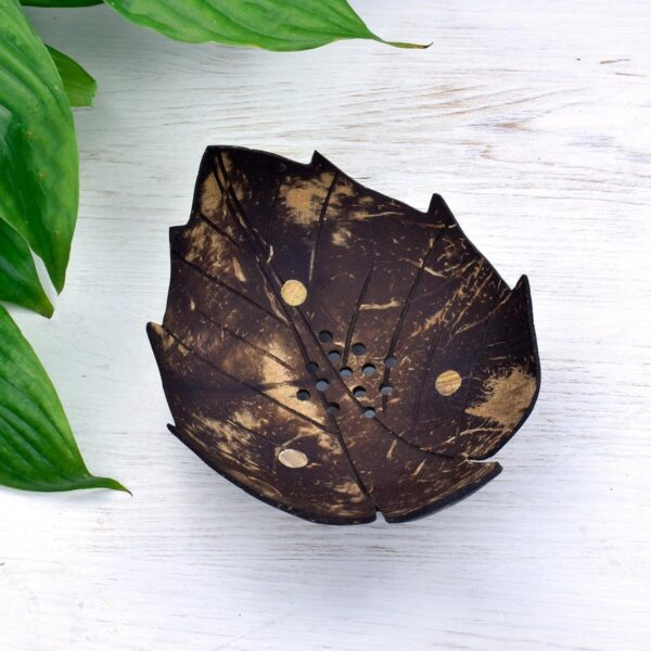 Pointed Leaf Coconut Shell Soap Dish