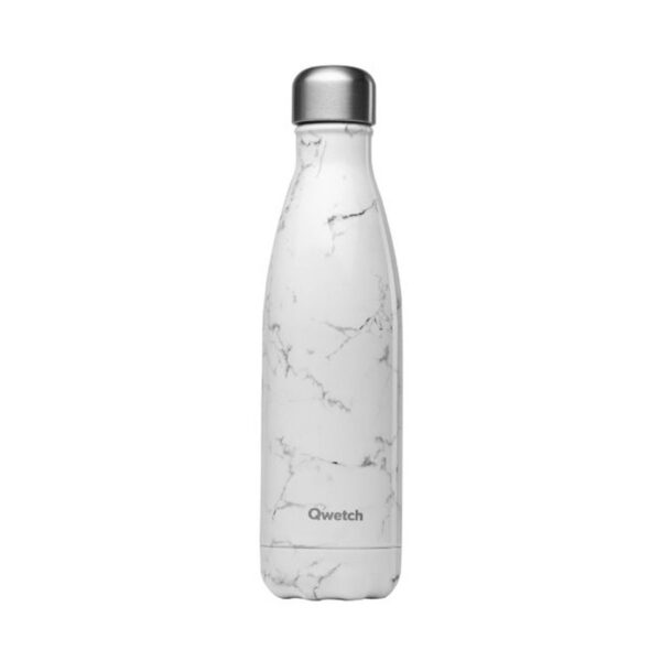 Qwetch White Marble Stainless Steel Bottle
