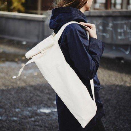 Dans Le Sac Cotton Baguette Bag With Shoulder Strap