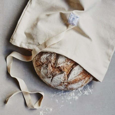 Dans le sac Cotton Bread Bag With Bread