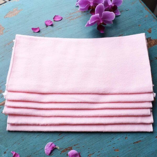Vesta Living Reusable Cloth Wipes Pink