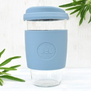 Sol Blue Stone Glass Coffee Cup