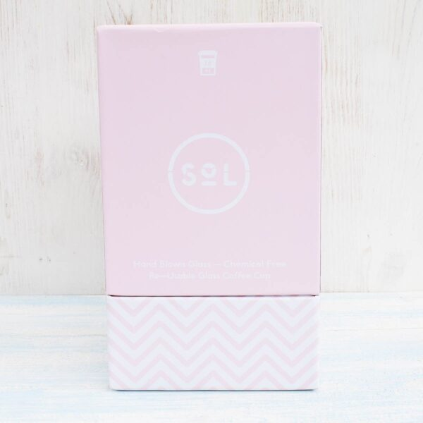 Sol Perfect Pink Glass Coffee Cup Box