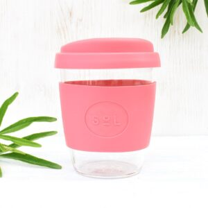 Sol Radiant Rose Glass Coffee Cup