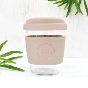 Sol Seaside Slate Glass Coffee Cup