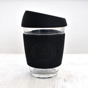 Neon Kactus Black Glass Coffee Cup