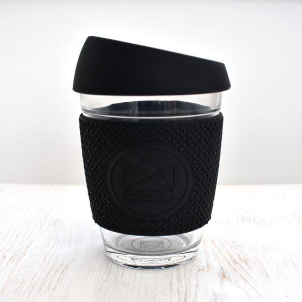 Neon Kactus Black Glass Coffee Cup