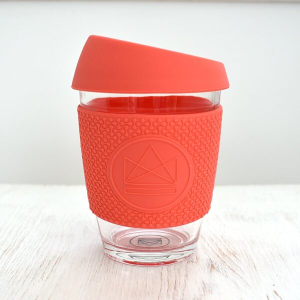 Neon Kactus Coral Glass Coffee Cup