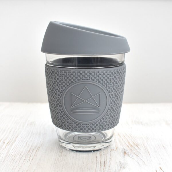 Neon Kactus Grey Glass Coffee Cup