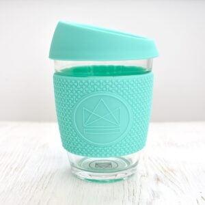 Neon Kactus Mint Glass Coffee Cup