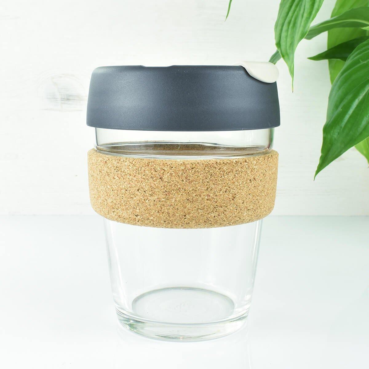 Grey Glass Coffee Cup 12oz