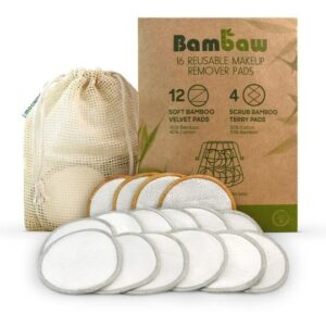 Bambaw Reusable Makeup Remover Pad Set With Wash Bag