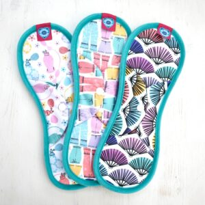 bloom & nora, bloom and nora, Reusable Sanitary Pads Bloomers , 3 Pack, front view,