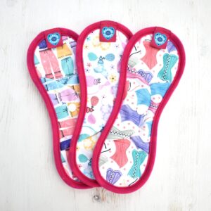 bloom & nora, bloom and nora, Reusable Sanitary Pads Noras 3 Pack