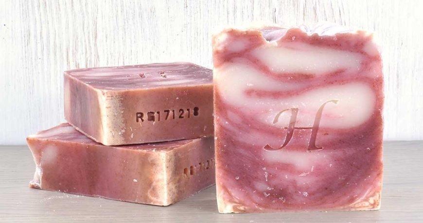 Hatton rose & geranium collection natural soap bars