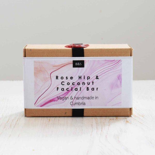 Bain & Savon, Bain and Savon , Rose Hip and Coconut Facial Soap Bar Packaging,