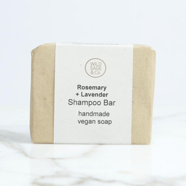 Wild Sage & Co Rosemary & Lavender Shampoo Bar In Box