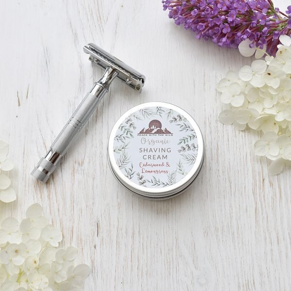 safety razor and peace with the wild shaving cream