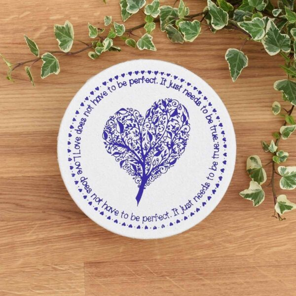 Your Green Kitchen Small Cotton Bowl Cover Heart Print